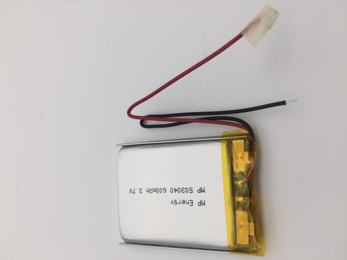 BIS longo do UL IEC62133 KC dos CB do CE da bateria 3.7V 600mAh do polímero do lítio do tempo