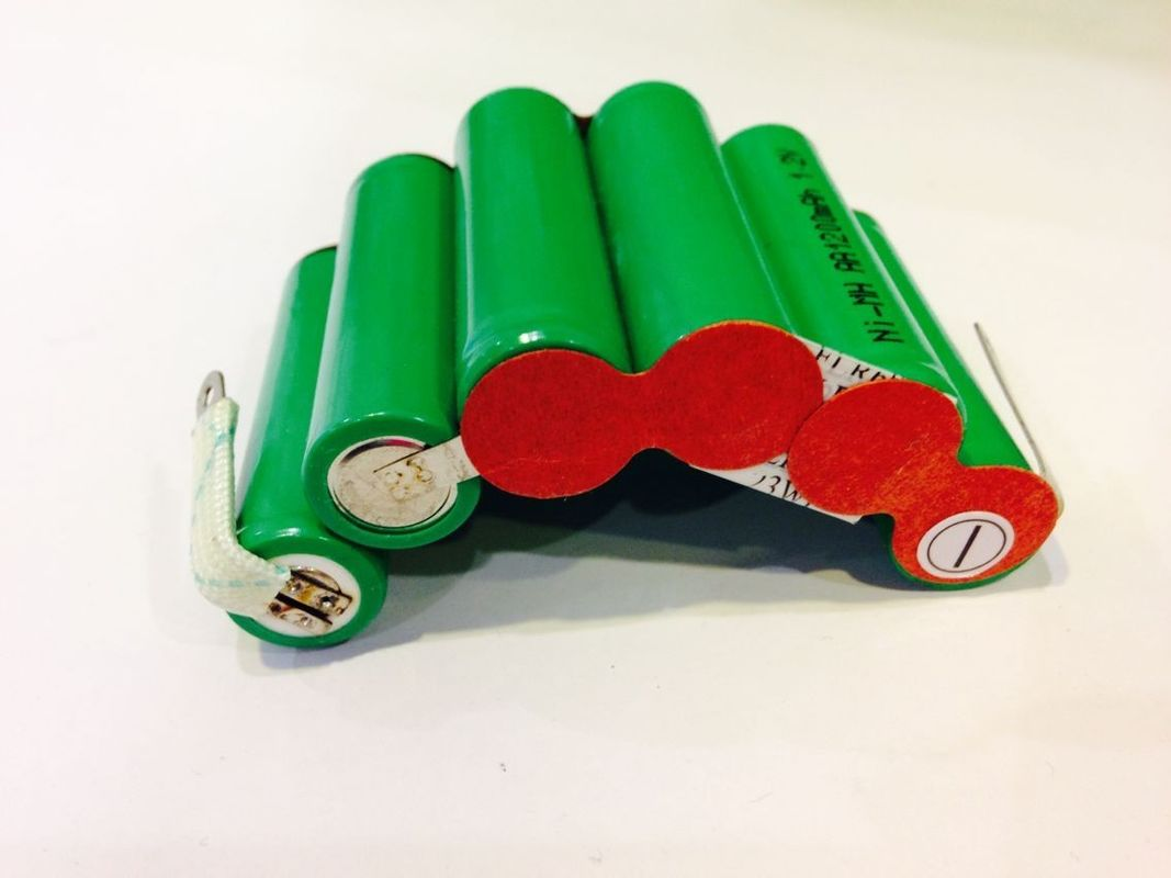 1200mAh Safety NIMH Rechargeable Battery Pack 7.2V Arc Shape , Small Battery Packs