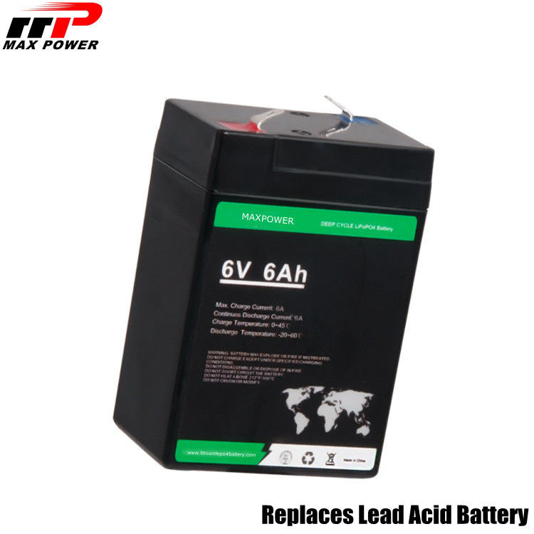 Phosphate Lithium LiFePO4 Battery 6V 6Ah 38.4Wh ESS Replaces Lead Acid Durable