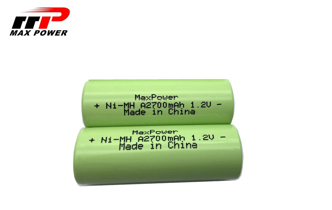 Durable NIMH Rechargeable Batteries A2700mAh 1.2V With UL CE KC Certification