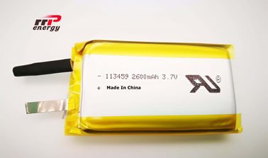 China Bens do bloco 2600mAh 3.7V 113459 da bateria do polímero do íon do lítio do aquecedor da mão UL1642 distribuidor