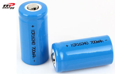 China Tempo 700mAh longo recarregável cilíndrico do bloco 3.7V 16340 da bateria do íon de Li distribuidor